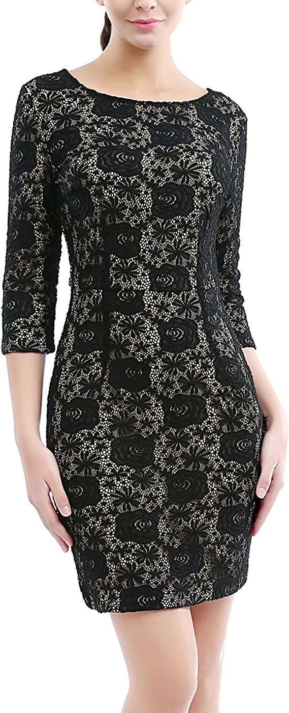 phistic Women's Lace Sheath Dress (Regular & Plus Size)