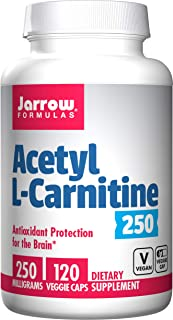 Jarrow Formulas Acetyl L-Carnitine 250 mg, Antioxidant Protection for The Brain, 120 Caps