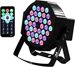 DJ Lights Missyee 36 X 1W RGB LEDs DJ LED Uplighting Package Sound Activated Stage Par Lights with Remote Control Compatible with DMX, 9 Modes LED Up Lights for Wedding Event Party Festival (1 Pack)
