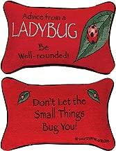 KensingtonRow Home Collection Decorative Pillows - Advice From a Ladybug Pillow - Reversible Pillow