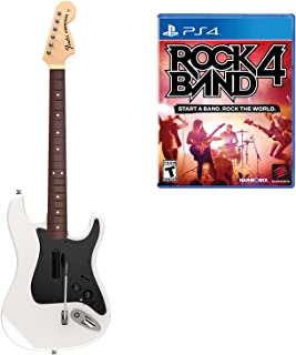 Mad Catz Rock Band 4 Wireless Fender Stratocaster Guitar Controller and Software Bundle for PlayStation 4 - White