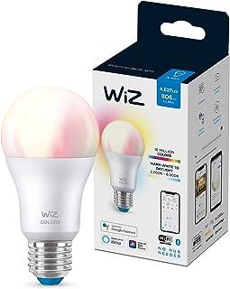 WiZ A60 E27 Wi-Fi + Bluetooth Smart LED Bulb, Multicolor