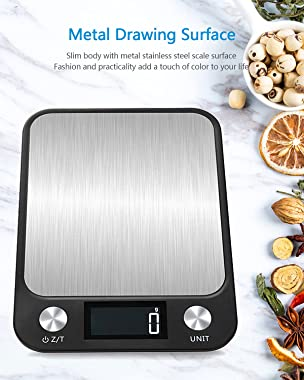 Digital Food Scale, Kitchen Scales with LCD Display Waterproof Multifunction, Weight Grams & Oz for Baking, Cooking, Meal