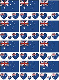SpringPear 12x Temporary Tattoos of National Flag for World Cup International Competitions Waterproof Flags Tattoo Sticker Fan Set (12 Pcs)
