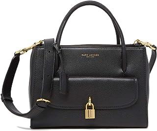 M0014784-0001 Black Leather Women's Handbag, Medium