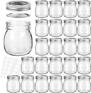 KAMOTA Mason Jars 10 oz With Regular Lids and Bands, Ideal for Jam, Honey, Wedding Favors, Shower Favors, Baby Foods, DIY ...