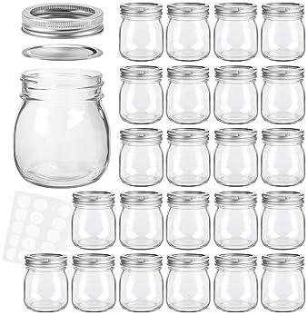 KAMOTA Mason Jars 10 oz With Regular Lids and Bands, Ideal for Jam, Honey, Wedding Favors, Shower Favors, Baby Foods,...