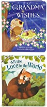 2 Pack Padded Board Books - Grandma Wishes and All the Love in the World (Love You Always)