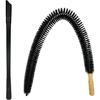 """Dryer Vent Cleaner Kit - 30 inch Flexible Dryer Lint Brush for Cleaning Dryer, 24"""" Universal Vacuum Attachment for Dryer Vent, Fits Vacuum Hoses 1 1/2 inches or Less"""