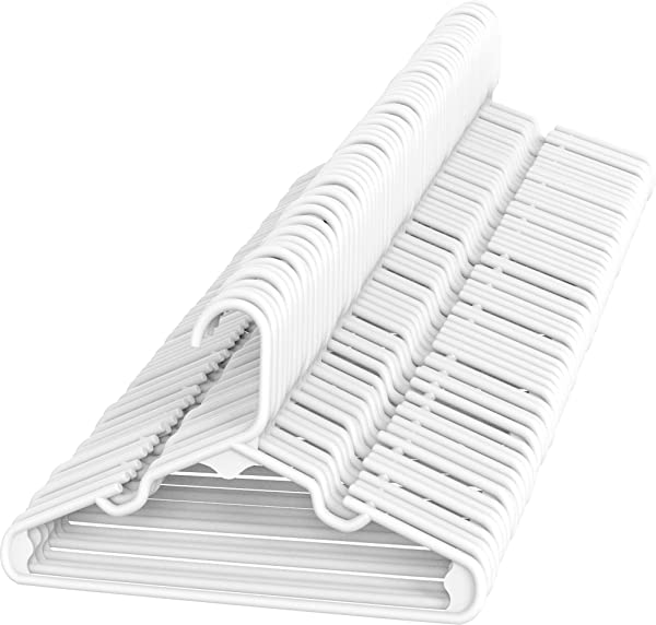Sharpty White Children S Hangers Plastic Kids Hangers Ideal For Everyday Standard Use Baby Hangers Kids 60 Pack