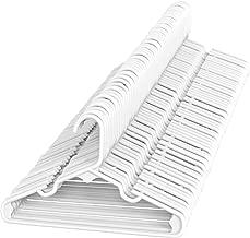 Sharpty White Children's Hangers Plastic, Kids Hangers Ideal for Everyday Standard Use, Baby Hangers (Kids 60 Pack)