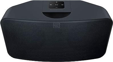 Bluesound Pulse Mini 2i Compact Wireless Multi-Room Smart Speaker with Bluetooth - Black - Works with Alexa and Siri