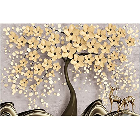 Buy Bp Design Solution Golden Tree Design Wallpaper For Home Decor Office Wall Etc Self Adhesive Vinyl Water Proof 24x18 Inch 3 Sqft Online At Low Prices In India Amazon In