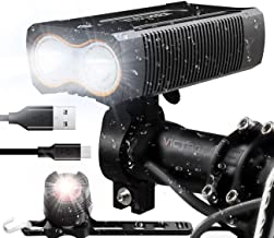 victagen USB Rechargeable Bike Light,Super Bright 2400 Lumens and Free Bike Tail Light..