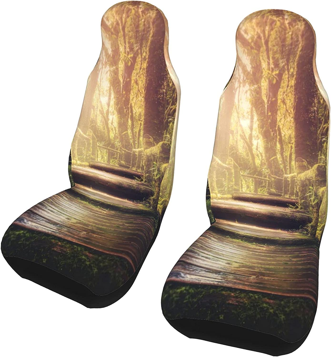 Forest Same day shipping Art Max 42% OFF Tree Green Front Seat Pcs Set Covers 2 Car Protector