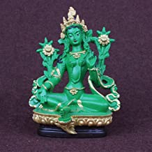 PPCP Green Tara, Tantric Statues, Resin Small Statues, Buddha Statue, Buddhism, Buddhist, Figure, Figurine, About 13.5CM H...
