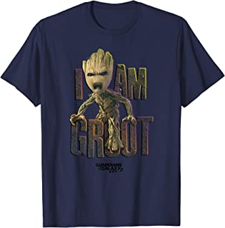 Guardians Vol.2 I AM GROOT Cute Angry Graphic T-Shirt T-Shirt
