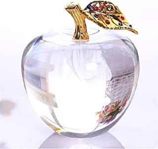 PPCP 80MM Crystal Apple Paperweight Wedding Decoration Crystal Ball Craft for Kids (Color : Clear)