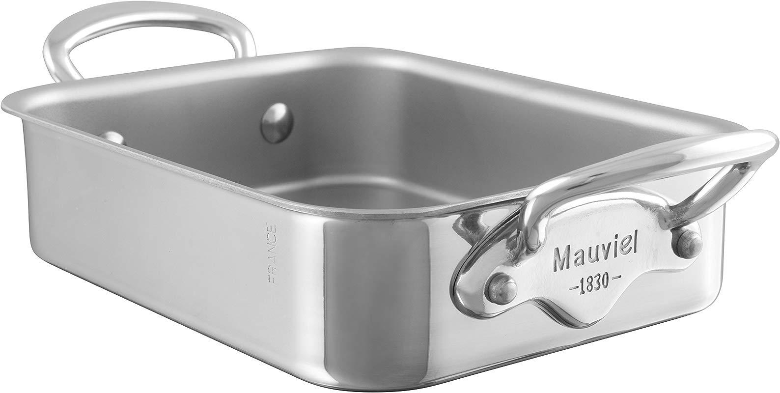 Mauviel M Mini SS Rectangular Roasting Pan 5 5 X 3 9 X 1 8