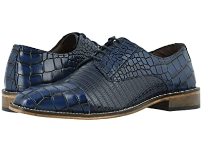 Stacy Adams Talarico Leather Sole Cap Toe Oxford (Dark Blue) Men