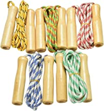 Niome Wood Handle Aerobic Kid Studengt Exercise Skipping Jump Rope Speed Fitness Sporting Goods
