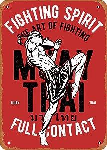 Fanzi Vintage Look Metal Sign - Martial Arts Full Contact Muay Thai - 8