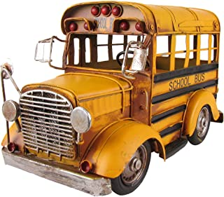 Vintage 1:24 Scale Model Short Yellow School Bus Vehicle