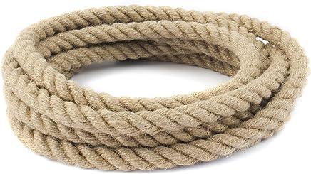 Roban Fashion/® 100/% naturale corda di iuta 6 mm 60 mm corda di canapa naturale decorazione corda giardino corrimano animale domestico marciapiede corda multiuso Utility Sisal Twine corda