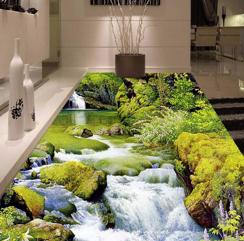 tienda de venta en línea Luzhenyi Papel Tapiz Tapiz Tapiz River Landscape Autoadhesivo Papel Tapiz Impermeable Para Pisos Para Sala De Bao Bao Mural-140(H)200(W) Cm  promociones emocionantes