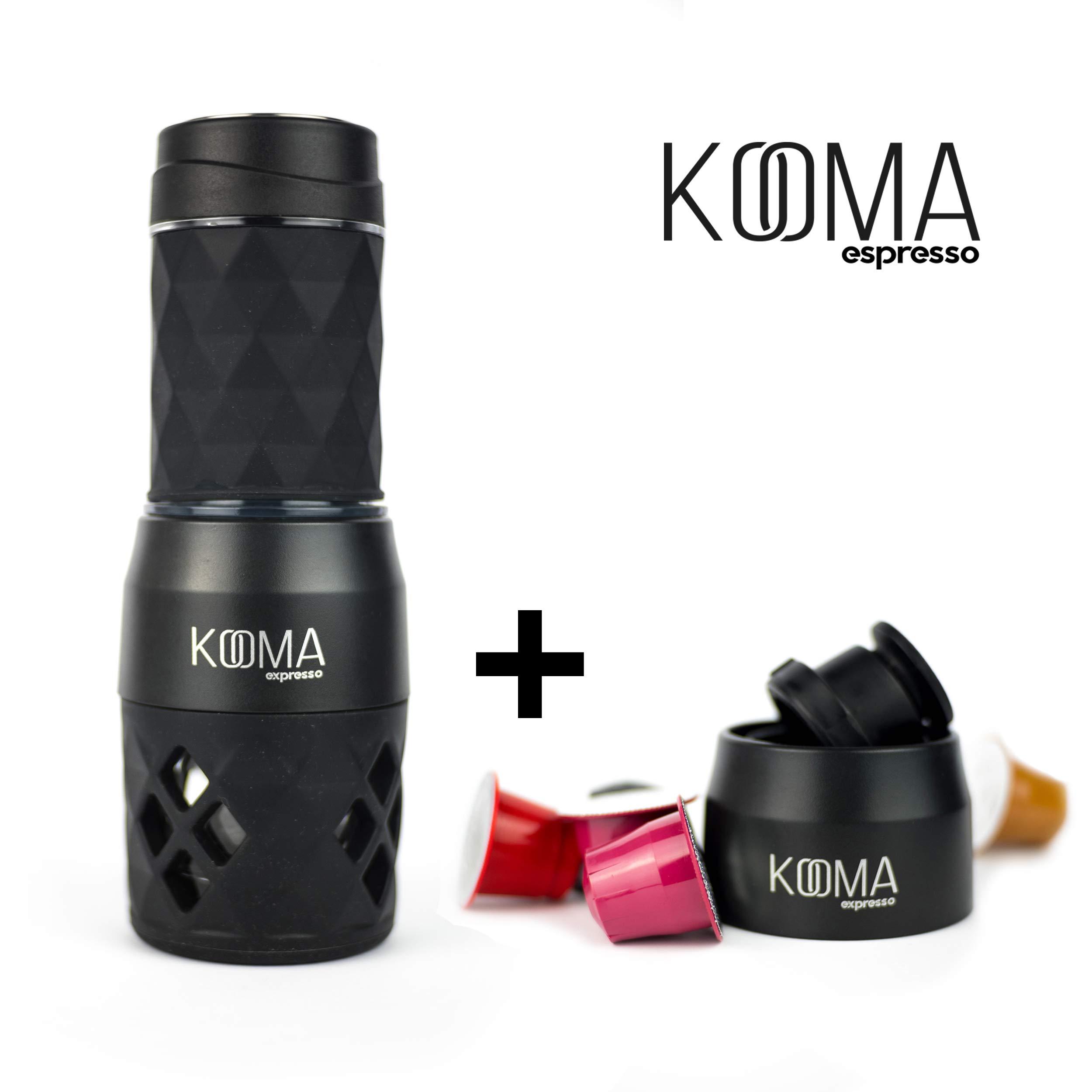 Cafetera portátil espresso, para capsulas compatibles NS y café molido, máquina de café capsulas y café molido, 19 bares de presión manual, ideal para salidas al aire libre, camping o trabajo: Amazon.es: