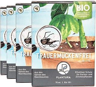 Plantura Bio Trauermückenfrei Neem, 4er Set, wirksames Gießmittel gegen Trauermücken..