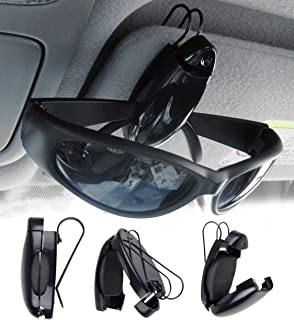 Iceblueor KFZ-Brillenhalterung f/ür die Sonnenblende//L/üftung schwarz f/ür 2 Brillen oder Karten//Bargeld