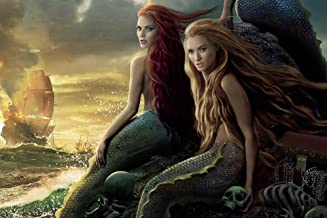 easyLife Home Decor Mermaids Pirates Of The Caribbean Movie Poster Reproduction Floral Bedroom Promote 50*75Cm