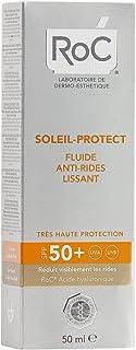 RoC - Soleil-Protect Fluido suavizante antiarrugas SPF 50 + - Reduce las arrugas - Mejora y protege la piel - Protector so...