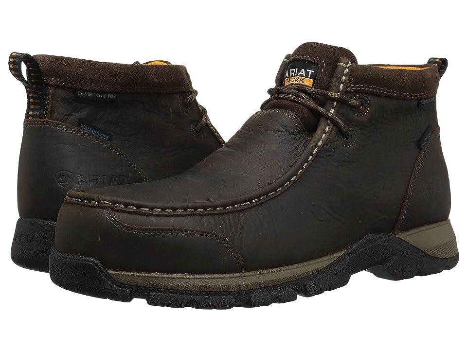 Ariat Edge LTE Moc H2O Composite Toe (Dark Brown) Men