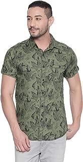 Mufti Tropical Print Half Sleeves Shirt