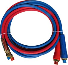 Road King Truck Parts 15' Heavy Duty Straight Air Line Hose Assembly with Dura Grips