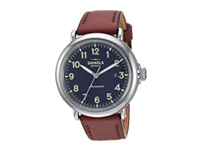 Shinola Detroit Runwell Automatic 20141492 (Midnight Blue Glossy Enamel Dial) Watches