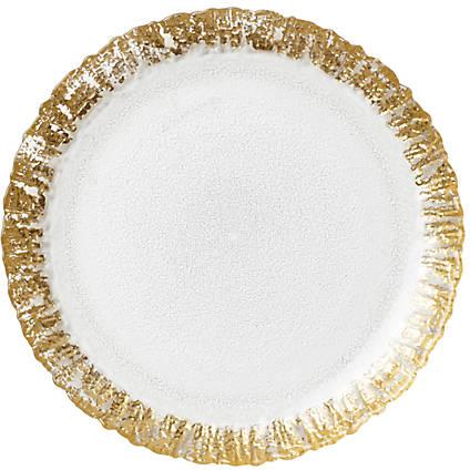Vietri Ruffle Glass Gold Salad Plate 8.5-in. | belk