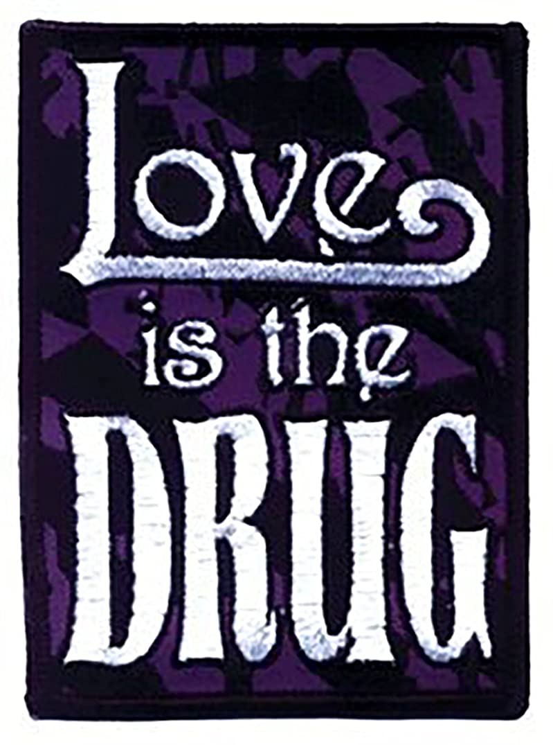 Love is the Drug Hippie Embroidered Iron On Applique patch