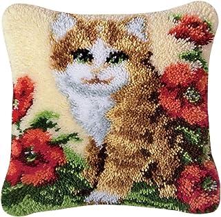 Kits de Crochet de Verrouillage for Adultes apestry Coussin Kit Complet Couverture Tapis Taie Faire Kit Loquet à Tricoter ...