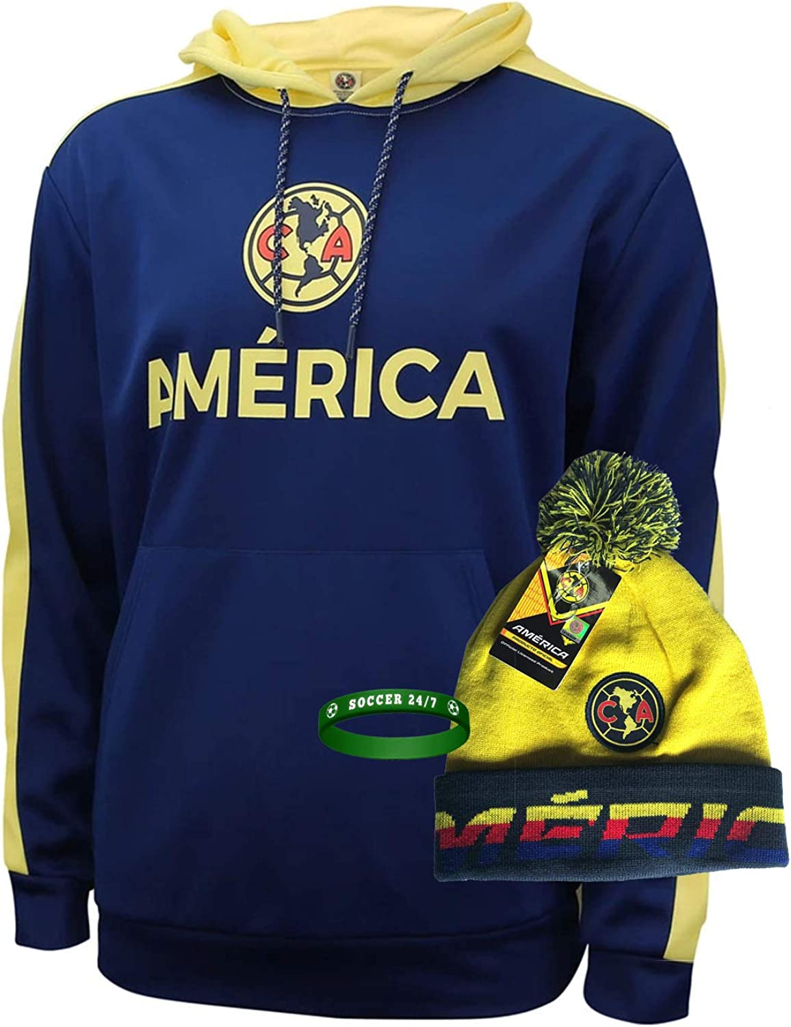 club america hoodie jacket Regular store and beanie for mens Import winter hat adults