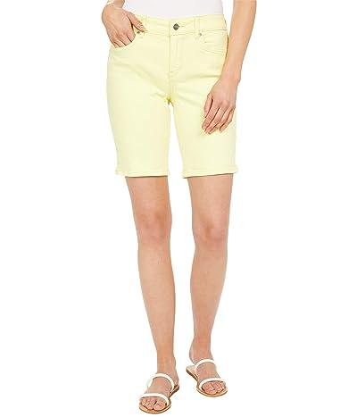 NYDJ Ella 9 Denim Shorts in Marisol Chartreuse Women