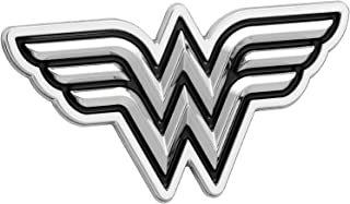 Fan Emblems Wonder Woman Logo 3D Car Emblem Black/Chrome, DC Comics Automotive Sticker Decal Badge Flexes to Fully Adhere to Cars, Trucks, Motorcycles, Laptops, Windows, Almost Anything