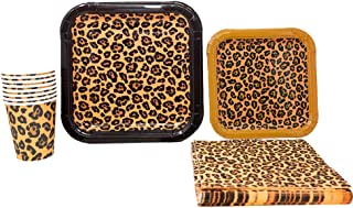 Leopard Print Party Supplies Pack (65+ Pieces for 16 Guests!), Leopard Party, Cheetah Print Tableware
