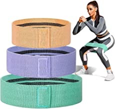 Hip Band Cotton Yoga Resistance Band Wide Fitness Exercise Legs Band Loop for Circle Squats Training Anti Slip Rolling,A,Medium
