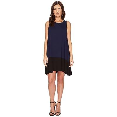 Lilla P Color Block Dress (Navy/Black) Women