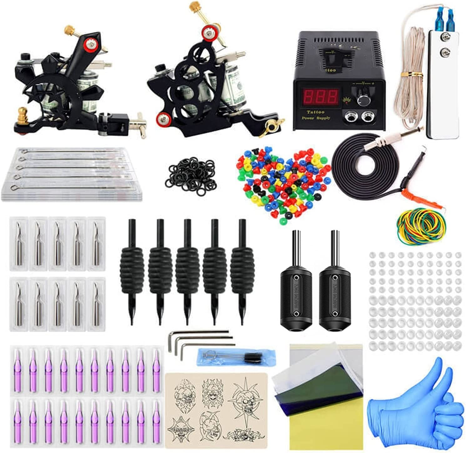 Genuine Free Shipping ZEFS--ESD Tattoo Tools Full Machine Coil Gu 2 Recommendation Kit