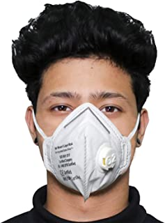 ORILEY O2 OR6LM07 6 Layer Face Mask with Filter Valve Nose Mouth Respirator for Men & Women (White, 1 PC)