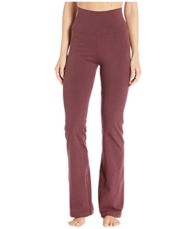 Hard Tail Rolldown Bootleg Flare Pants (Bordeaux) Women